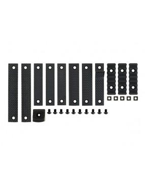 12 Piece Rail Panel Kit - Preto