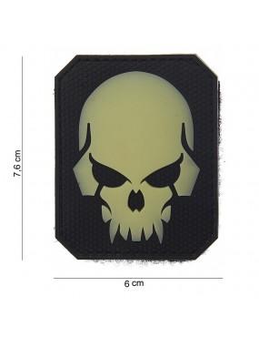 Patch PirateSkull Preto - Glow