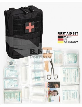 First Aid Set Large - 43 Pieces - Preto [Miltec]