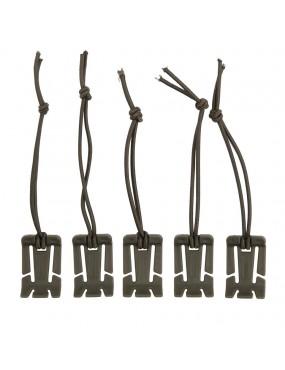 Molle Elastic Binder - 5 pack - Preto [101INC]