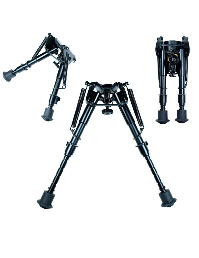 Adjustable bipod with RIS mount adapter - Preto