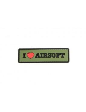 Patch I Love Airsoft - Verde/Preto