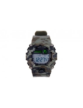 Relógio Táctico Analógico e Digital - Camo [Delta Tactics]