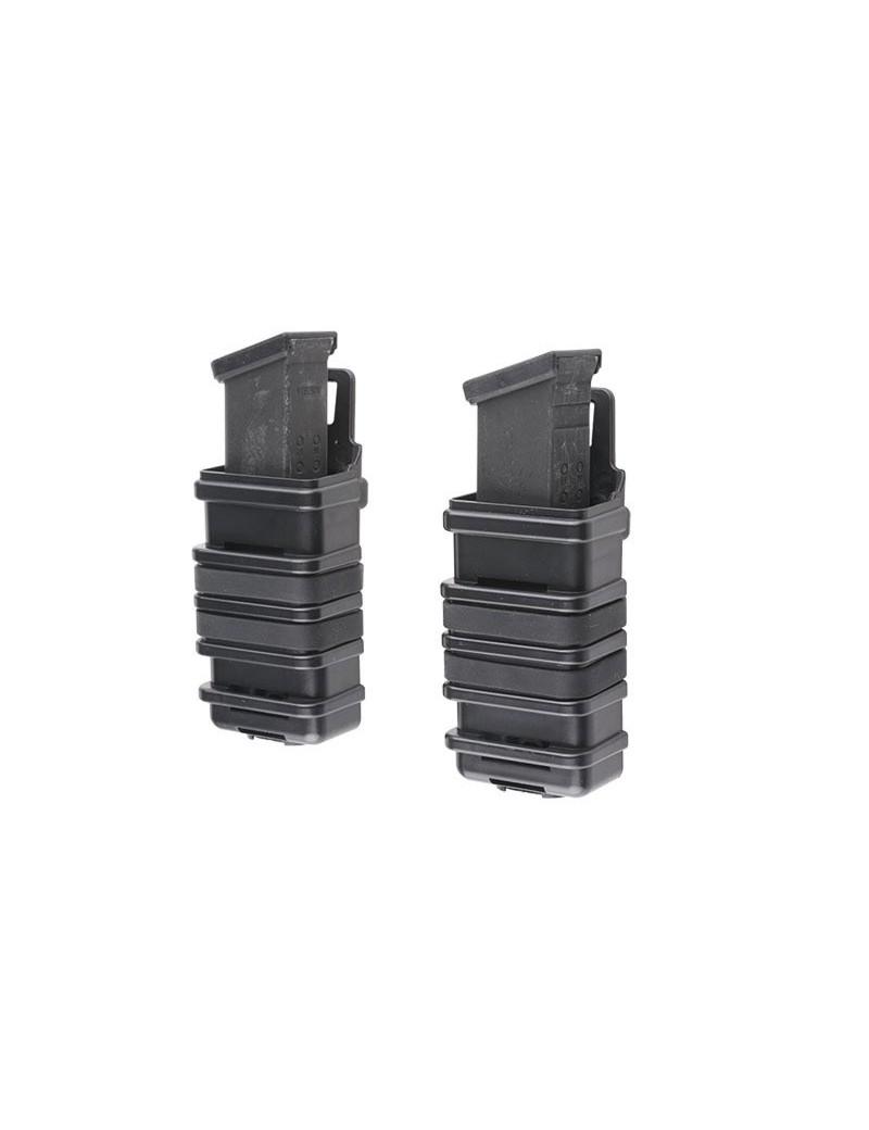 Double Open Pistol Mag Pouch - Black [Primal Gear]