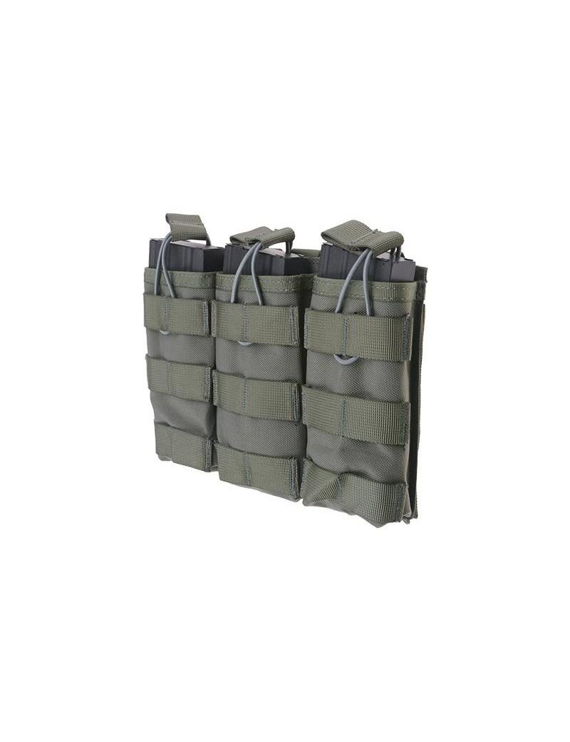 Triple Open I Pouch AK/M4/G36 Mag - Ranger Green [Primal Gear]
