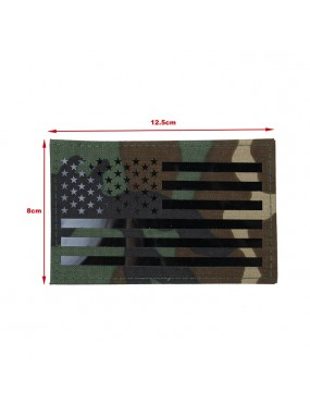 US Flag Infrared Large Patch - Woodland [TMC]