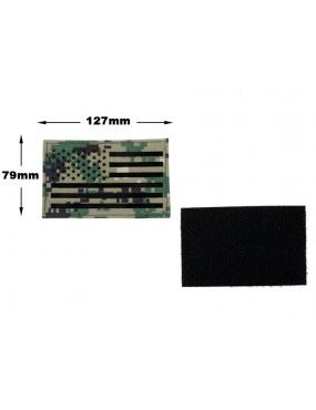 US Flag Infrared Large Patch - AOR2 [TMC]