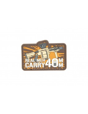 Patch - Real Man Carry 40mm